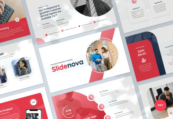 Slidenova – Pitch Deck PowerPoint Presentation Template
