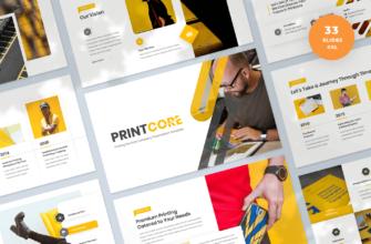Printcore – Printing Company Google Slides Presentation Template