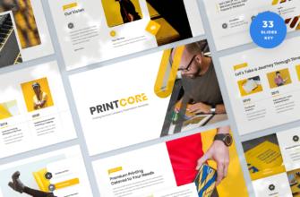 Printcore – Printing Company Keynote Presentation Template