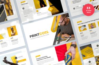 Printcore – Printing Company PowerPoint Presentation Template