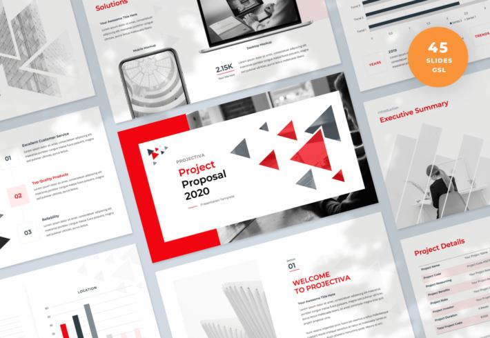 Projectiva – Project Proposal Google Slides Presentation Template