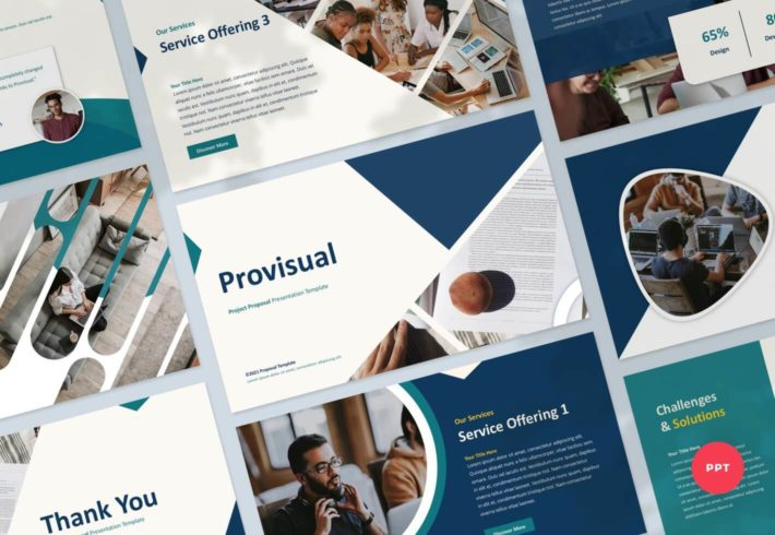 Provisual – Project Proposal PowerPoint Presentation Template