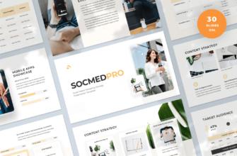 SocmedPro – Social Media Marketing Strategy Google Slides Presentation Template