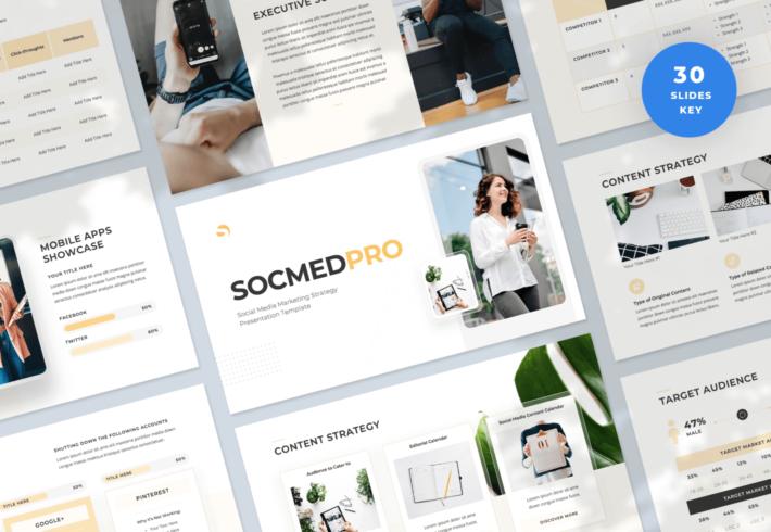 SocmedPro – Social Media Marketing Strategy Keynote Presentation Template