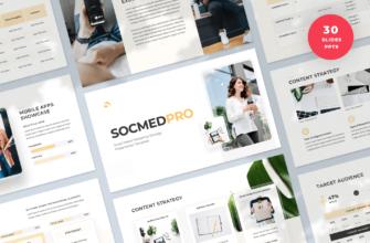 SocmedPro – Social Media Marketing Strategy PowerPoint Presentation Template