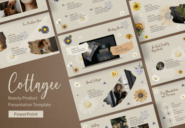 Cottagee – Beauty Product PowerPoint Presentation Template
