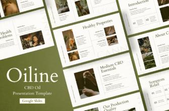 Oiline – CBD Oil Google Slides Presentation Template
