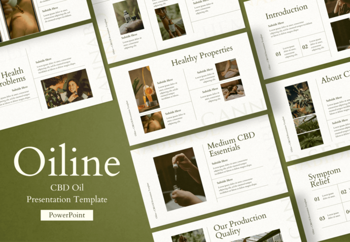 Oiline – CBD Oil PowerPoint Presentation Template