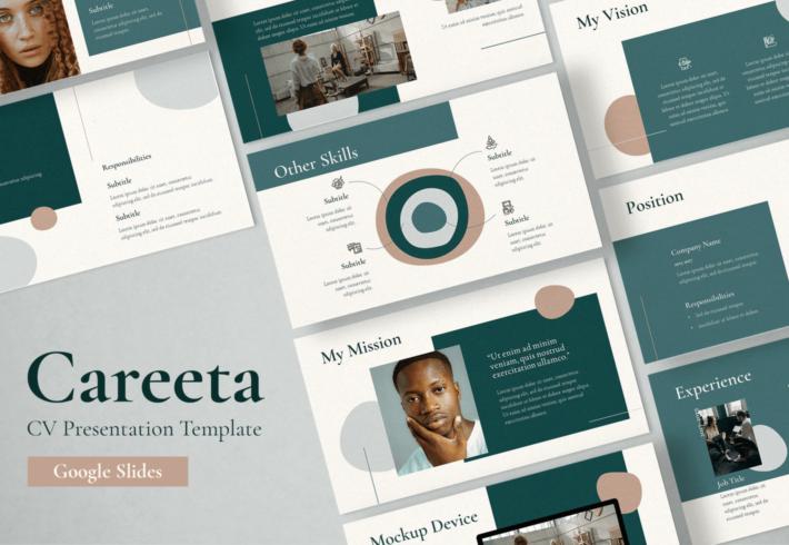 Careeta – CV PowerPoint Presentation Template