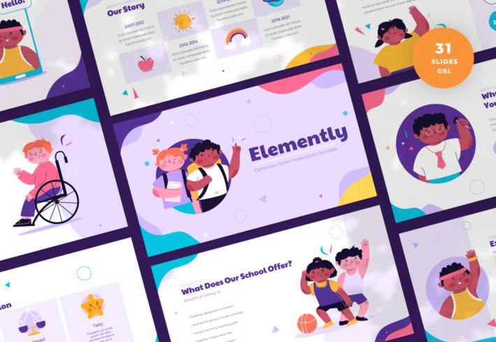 Elemently – Elementary School Google Slides Presentation Template
