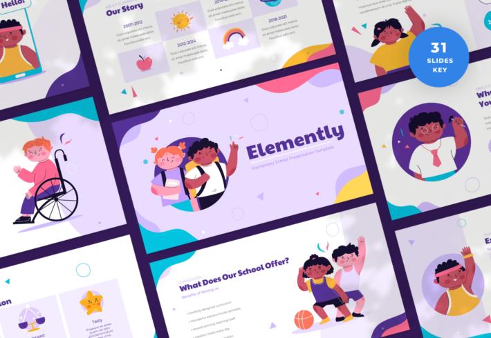 Elemently – Elementary School Keynote Presentation Template