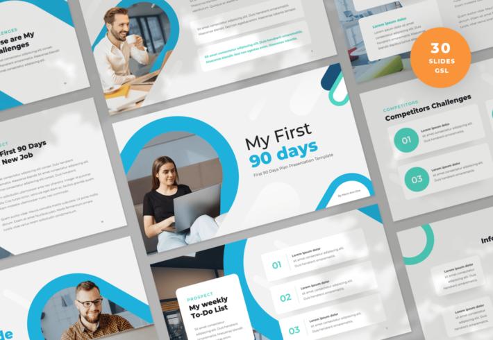 First 90 Days Google Slides Presentation Template