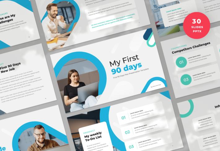 First 90 Days PowerPoint Presentation Template