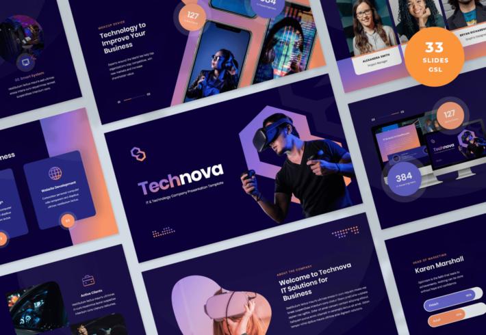 Technova – IT and Technology Company Google Slides Presentation Template