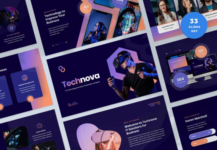 Technova – IT and Technology Company Keynote Presentation Template