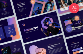 Technova – IT and Technology Company PowerPoint Presentation Template