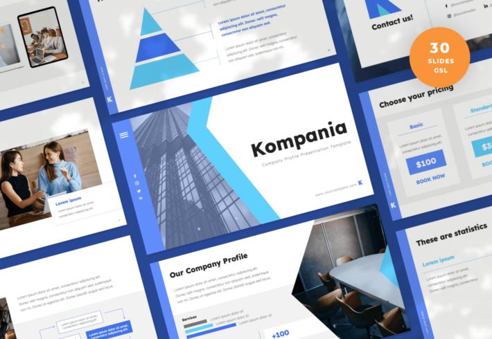 Kompania – Company Profile Google Slides Presentation Template