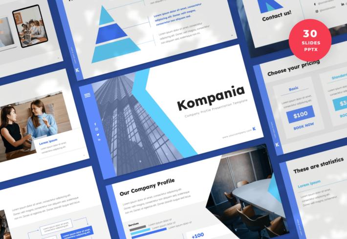 Kompania – Company Profile PowerPoint Presentation Template