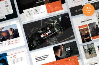Moviecore – Movie Studio and Film Maker Google Slides Presentation Template