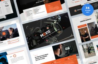 Moviecore – Movie Studio and Film Maker Keynote Presentation Template
