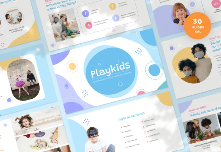 Kid Entertainment Center Google Slides Presentation Template