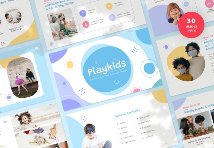 Kid Entertainment Center PowerPoint Presentation Template