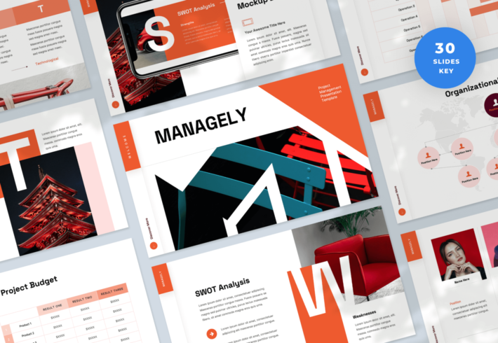 Managely – Project Management Keynote Presentation Template