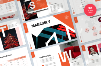 Managely – Project Management PowerPoint Presentation Template