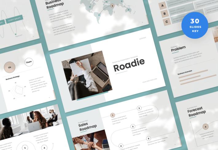 Roadie – Roadmap Keynote Presentation Template