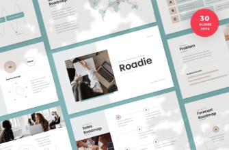 Roadie – Roadmap PowerPoint Presentation Template