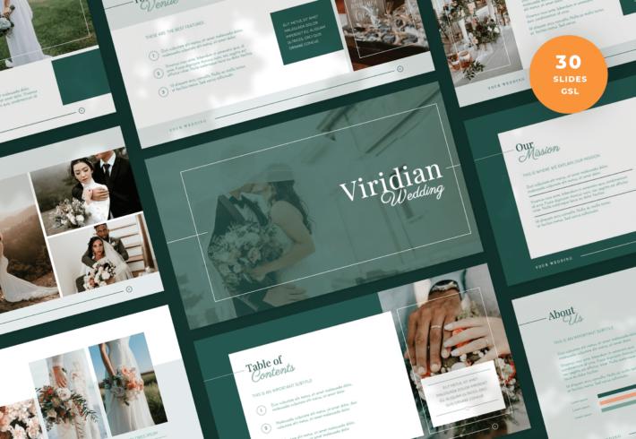 Viridian – Wedding Google Slides Presentation Template