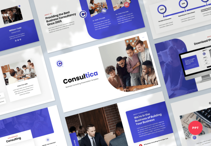Consultica – Business Consulting PowerPoint Presentation Template