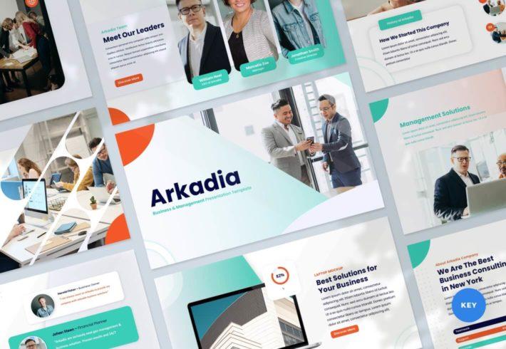 Arkadia – Business and Management Keynote Presentation Template