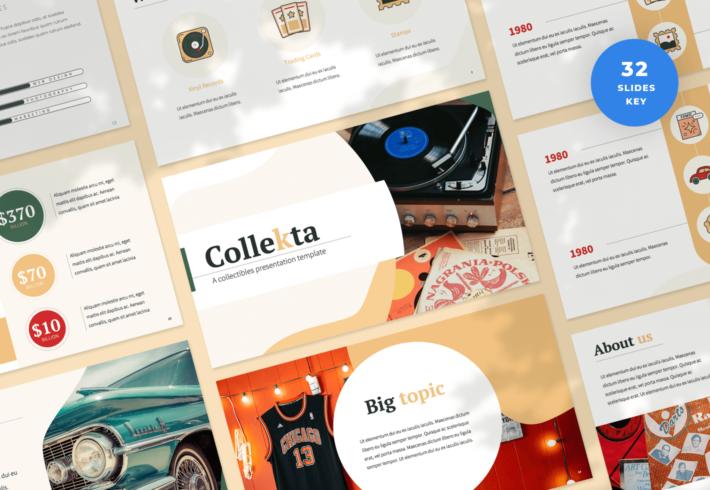Collekta – Collectables Keynote Presentation Template