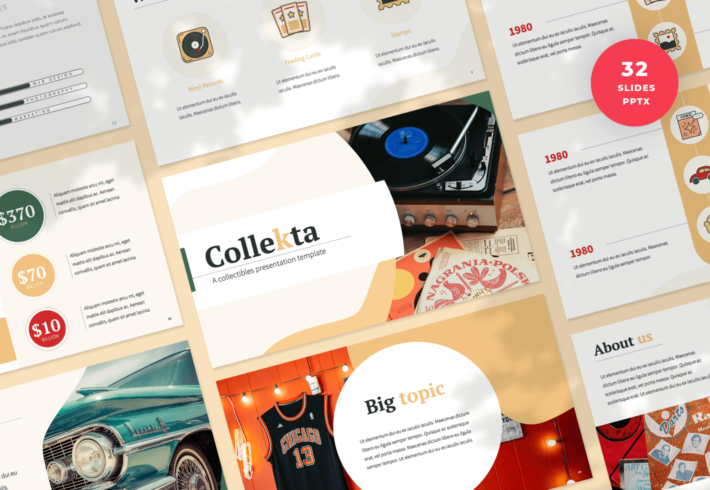 Collekta – Collectables PowerPoint Presentation Template