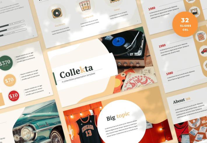 Collekta – Collectables Google Slides Presentation Template