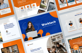 Worktech – Coworking and Creative Space Google Slides Presentation Template