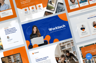 Worktech – Coworking and Creative Space Keynote Presentation Template