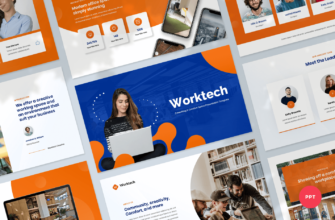 Worktech – Coworking and Creative Space PowerPoint Presentation Template
