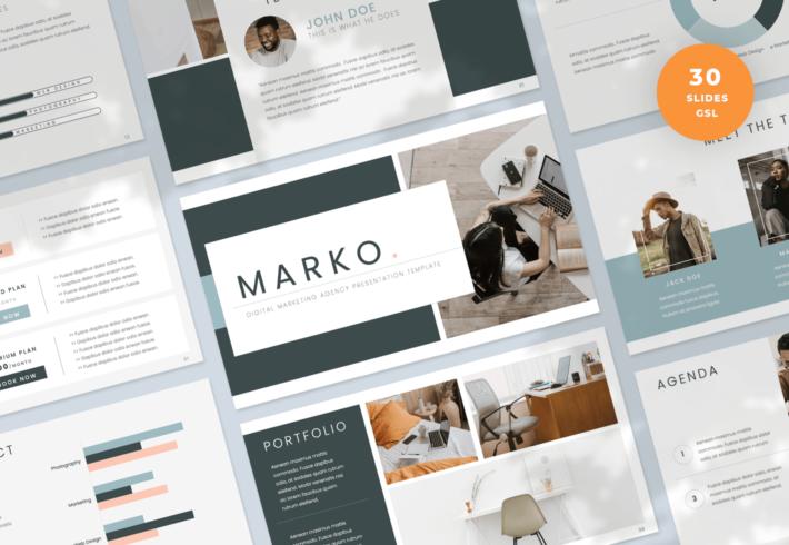 Marko – Digital Marketing Agency Google Slides Presentation Template