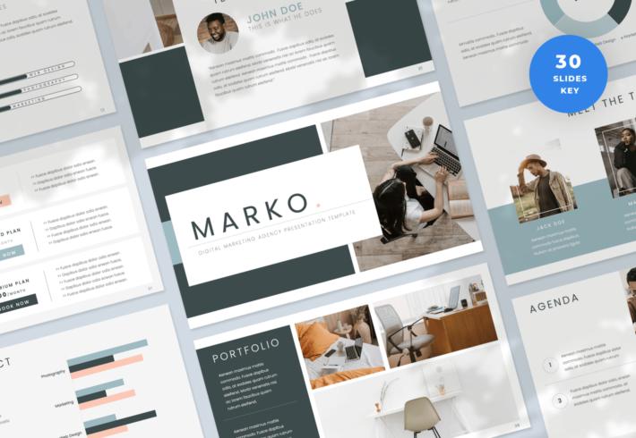 Marko – Digital Marketing Agency Keynote Presentation Template