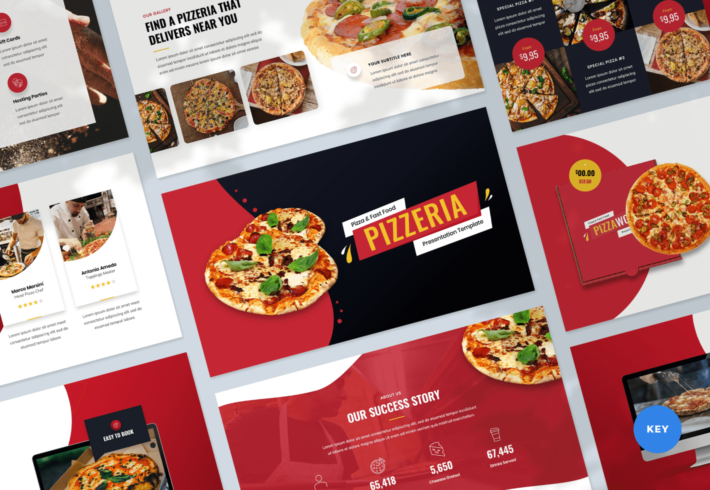 Pizzeria – Pizza and Fast Food Keynote Presentation Template