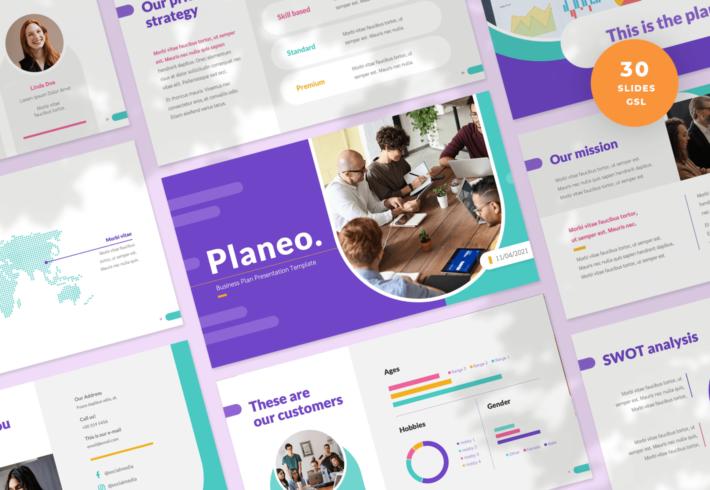 Planeo – Business Plan Slides Presentation Template