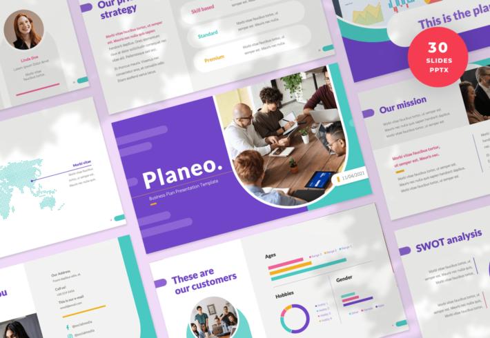 Planeo – Business Plan PowerPoint Presentation Template
