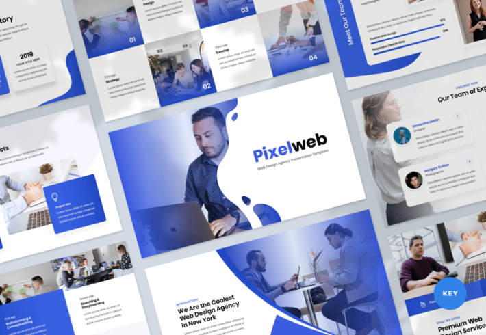 Pixelweb – Web Design Agency Keynote Presentation Template