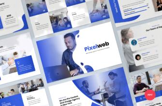 Pixelweb – Web Design Agency PowerPoint Presentation Template