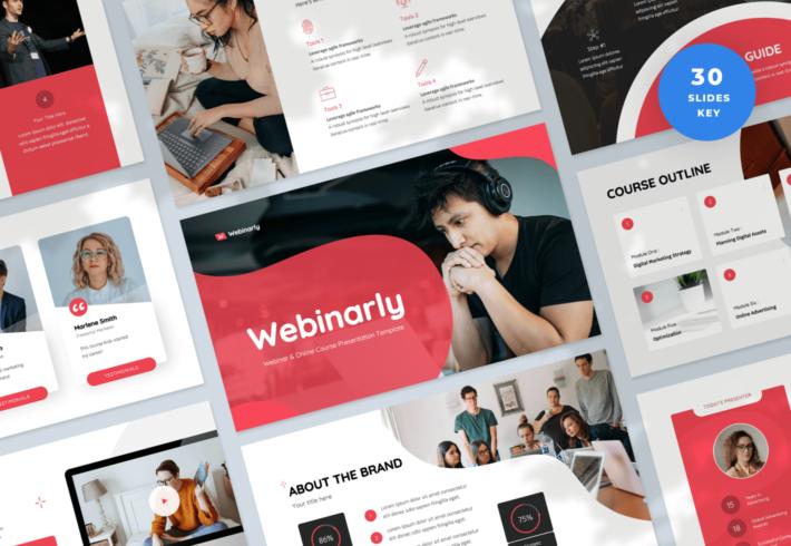 Webinarly – Webinar and eCourse Keynote Presentation Template