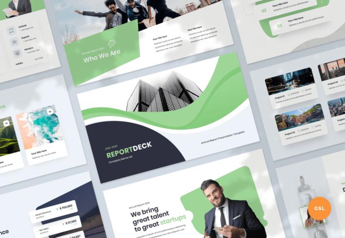 Reportdeck – Annual Report Google Slides Presentation Template