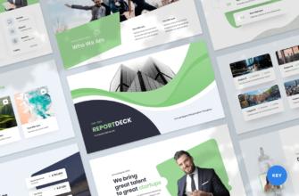 Reportdeck – Annual Report Keynote Presentation Template