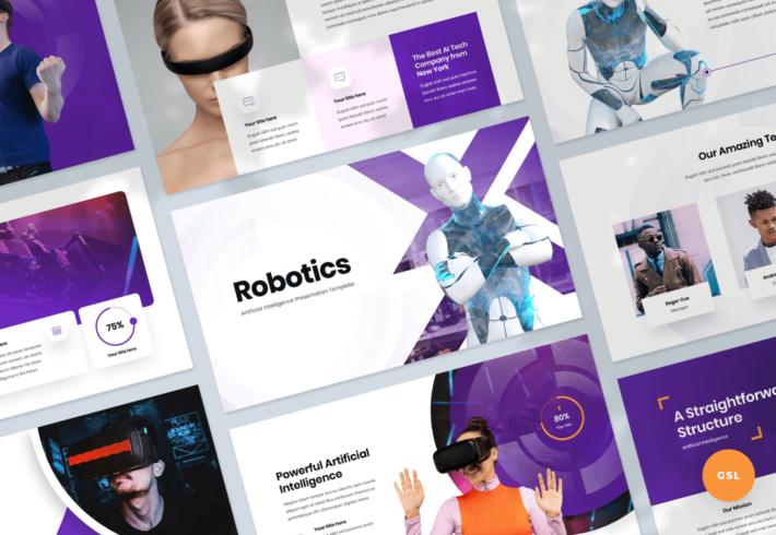 Robotics – Artificial intelligence Google Slides Presentation Template